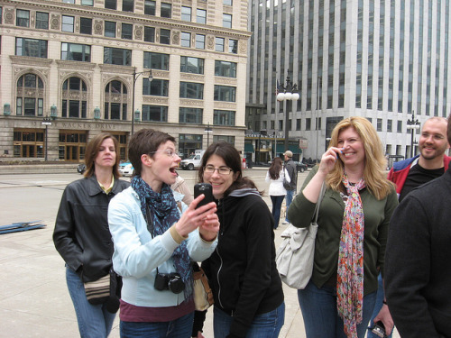 IMG_7307 by Pi In Chi on Flickr. Clearly something hilarious is going on!
