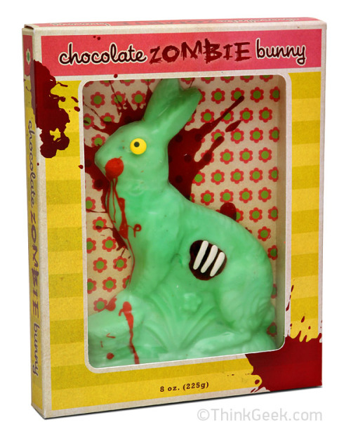 Just in time for Easter, it's a chocolate zombie bunny. buy it here