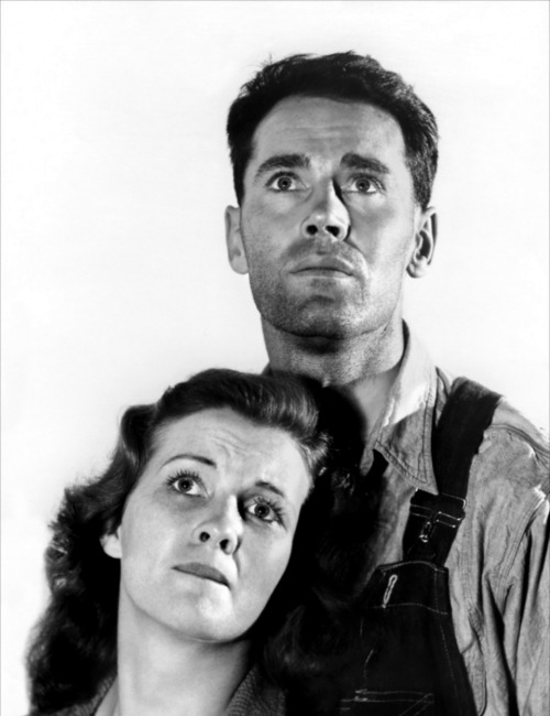 Henry Fonda and Doris Bowdon, publicity shot for The Grapes of Wrath (John Ford, 1940)