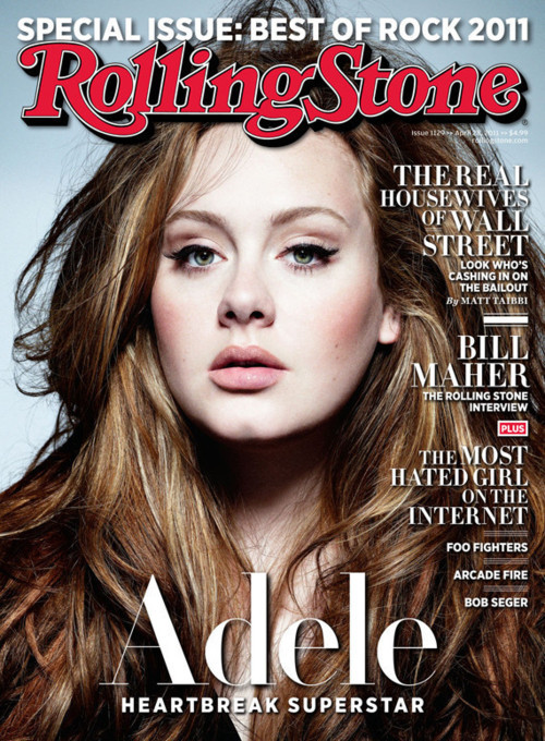 "popculturebrain:  Adele Covers Rolling Stone nathanieljams:  I've been crushing on Adele for, like, forever.   Wow, Adele looks GORGEOUS here. I think she's going to crush it at her Boston House of Blues show in May-I haven't been this excited for a concert since Gaga's Monster Ball last summer. When she sings ""Chasing Pavements"" I am going to be belting that shit."