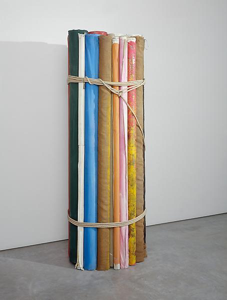 Michelangelo Pistoletto Il Fascio della Tela, 1980 Painted canvases and  string 84 1/4 x 27 1/2 inches  (214 x 70 cm) (image source:  www.luhringaugustine.com) via farticulate