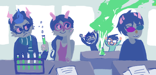 hamtigers:  KARKAT AND JOHN IN THE BACKGROUND