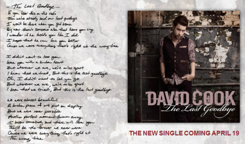 THAT AWKWARD MOMENT WHEN DAVID COOK'S LYRICS REFLECT THE STORY OF YOUR LIFE… :|