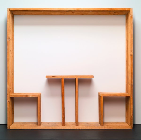 Michelangelo Pistoletto, Quadro Da Pranzo (Oggetti In Meno), 1965, wood (image source: http://collections.walkerart.org) via farticulate