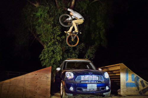 Matt Reyes Tuck no hander Over a Mini Cooper at the Wheel Talk Compound Mini Jam Taken by Forest Parker -Wizzard