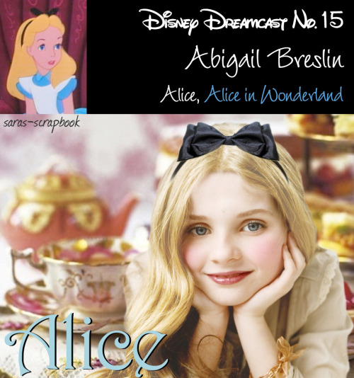 Disney Dreamcast No. 15 - Abigail Breslin as Alice (made by me)