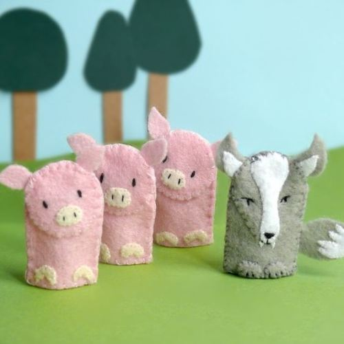amorningcupofjo:  (stayawake) Three little pigs and the big bad wolf!