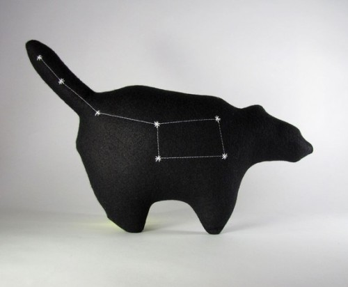 "lovelyetsy:  ""Ursa Minor"" Constellation Bear by lovecalifornia"