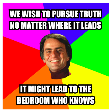 Pick up line Carl Sagan!
