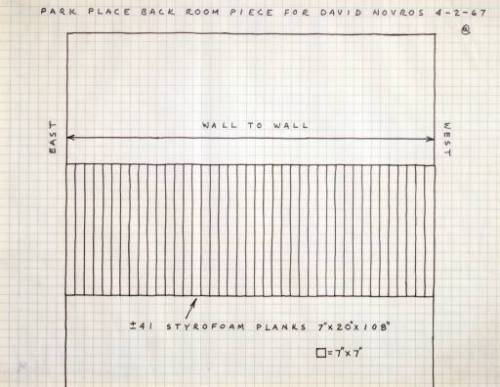 Carl Andre Diagram of `Reef'  1967