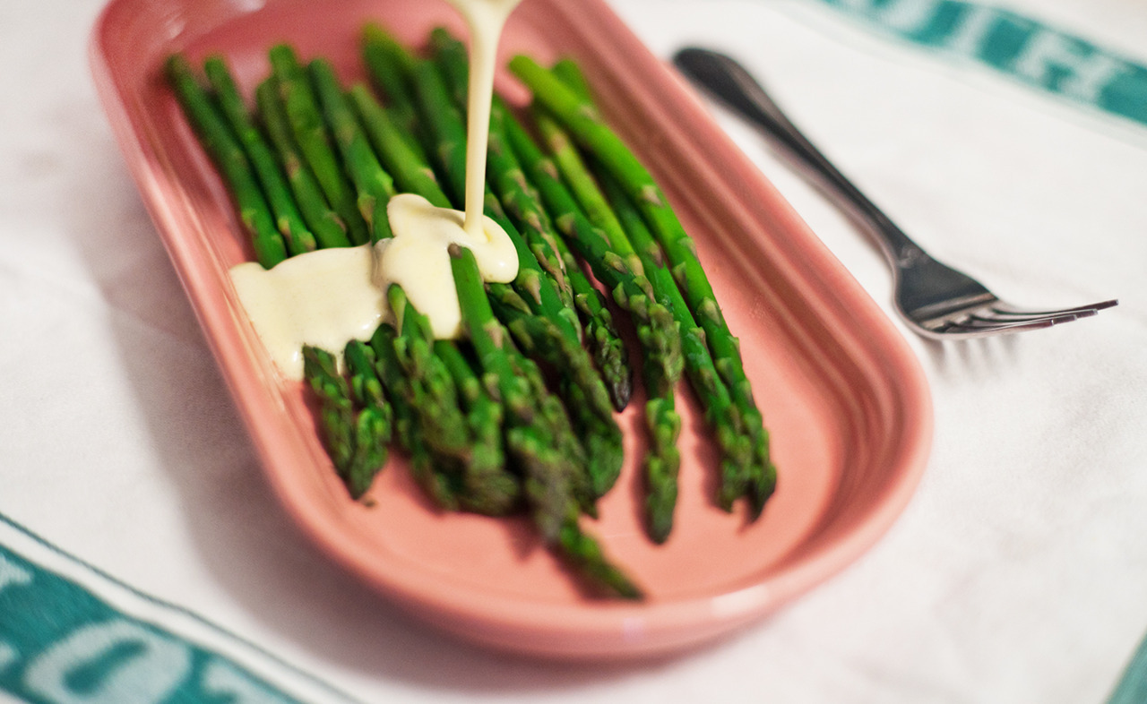 Asparagus with Hollandaise Sauce - Gourmet: April 1963