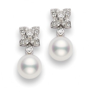 I love Mikomoto. They were my first pair of pearl earrings from my grandpa. If I had the money, I'd buy ones just like these for the wedding!