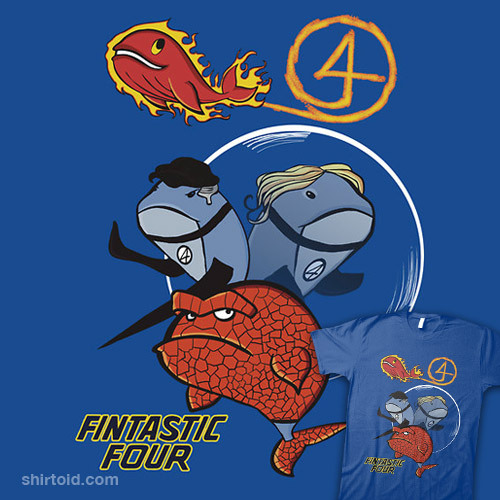 Fintastic Four available at RedBubble