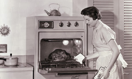 1950s Housewife Cooking Turkey