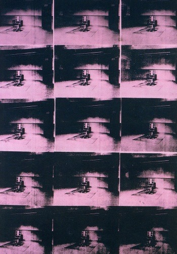 "The art: Andy Warhol, Lavender Disaster, 1963. The news: ""Seeking execution drug, states cut legal corners,"" by John Schwartz in the New York Times. (Warhol was interested in the violence states perpetrated on their own citizens and the corresponding breakdown in morals, ethics and legality.) The source: Collection of The Menil Collection."