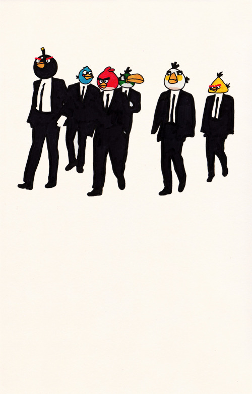 Reservoir Birds, Reservoir Dogs Meets Angry Birds