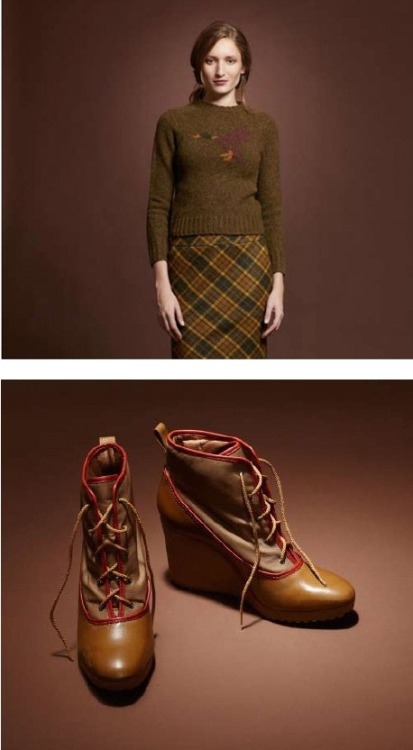 Via L.L. Bean's tumblr, a FW2011 preview for their women's Signature line. I don't usually post womenswear here, but I do want to say that I want that plaid pattern for a men's sport coat or trousers.