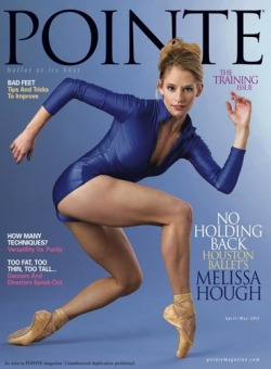 Pointe April/May cover: Melissa Hough of the Houston Ballet