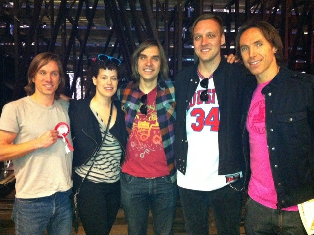 Arcade Fire hanging out with fellow Canadian Steve Nash. Previously: Arcade Fire stole my basketball.
