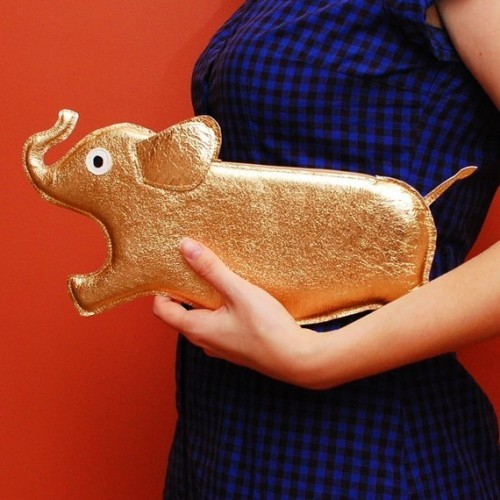 Gold Elephant Purse from Tsuru Bride.