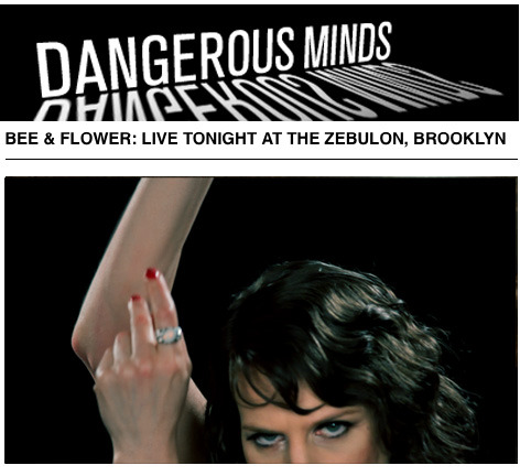 "Excellent feature on Bee and Flower on Dangerous Minds! ""If you like your folkish Americana with a large twist of David Lynch,  then Bee & Flower should be right up your deserted stretch of  backwoods road""…(more)"