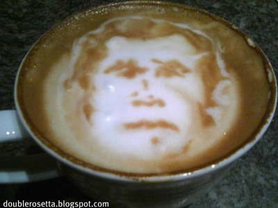 artinmycoffee:  George W. Bush latte art Atlanta, GA Empire State South http://doublerosetta.blogspot.com Submitted by Jonathan Pascual