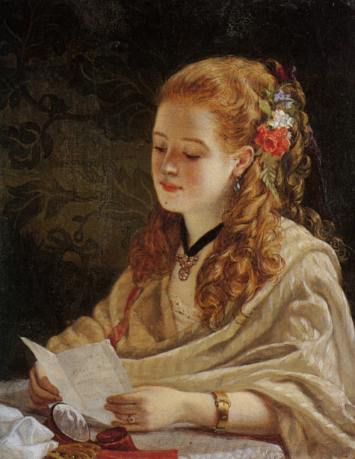art victorian 1863 1860s The Letter William Maw Egley