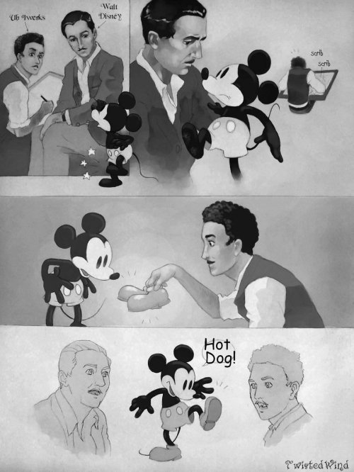 andrysb24:  steamboatwillie:  How Mickey got his shoes…  i ♥ this so that's how Mickey got his shoes!