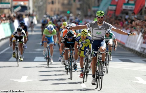 Vuelta a Castilla y Leon: Stage 2 Francisco Ventoso makes it two in a row! (Fun fact: Francisco Ventoso = Fran Windy on a google-translated Team Movistar site.  I like this.)