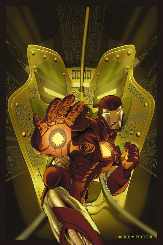 Iron Man cover by Tom Feister and Tony Harris