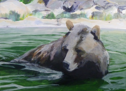 Zoo Bear 23 x 17. acrylic on canvas. Fall 2010 Course: Intermediate Painting