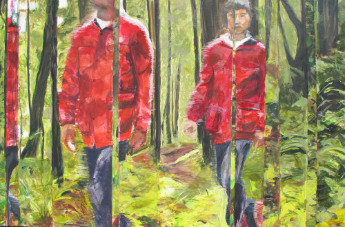 from video, Redwoods, and memory 48 x 32. acrylic on canvas. Spring 2011 Course: Advanced Painting