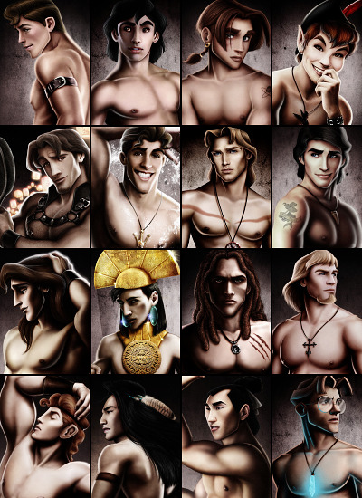 thedisneyprincess:   Disney Heroes by David Kawena