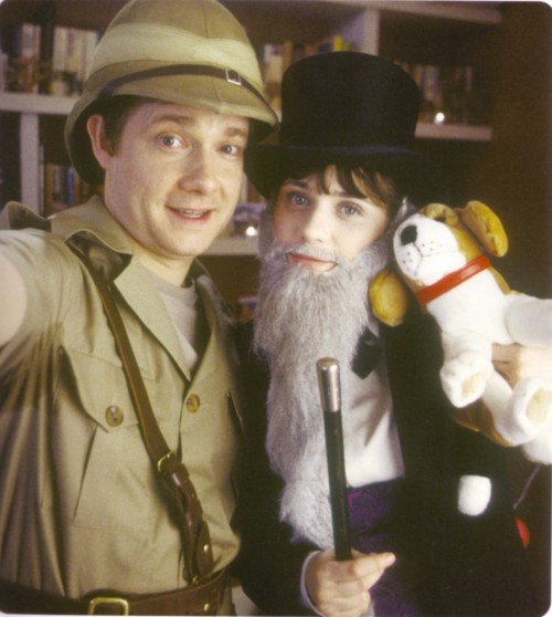 Martin Freeman and Zooey Deschanel. (photographer unknown)