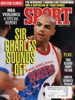 fatshawnkemp:  Awesome Barkley cover from now defunct SPORT Magazine   Sir Charles
