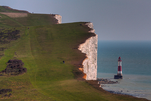 allthingseurope:  Beachy Head, Sussex, UK (by **Anik Messier**)   I am the UK. I am Germany. I am France. I am a citizen of the world.