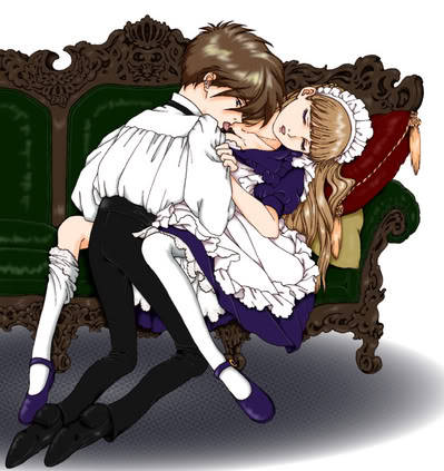 hawaiiangurl8o8:  Lord Heero and his  maid Ms. Relena  1XR ftw : 3