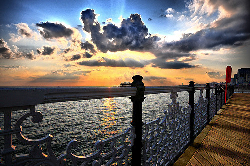 theworldwelivein:  On Brighton Pier (by Dominic Kamp)