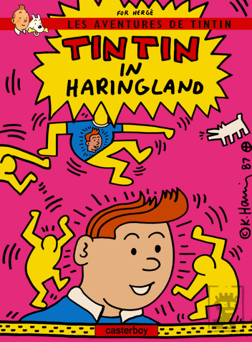 kiado:  Tintin in Haringland - cover [nearly] by Keith Haring by adesso (made after this)