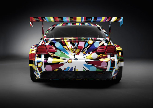 BMW Art Car by Jeff Koons. 2010 M3 GT2. It all started when Herve Poulain decided to mix art with with a racing car that he wanted to take to the pist in 1975 Le mans.  Asking his artist friend, Alexander Calder. Poulain's 3.0 CSL was the first car to create a symbiosis between the world of art and the world of  motorsport. This became an evolution for BMW. Jeff Koons completed the 17th in the series. See all here.