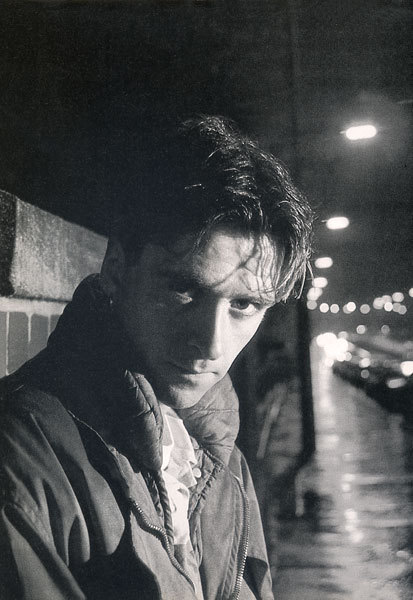 Johnny Marr posing in the streets of Manchester. From the French magazine: Les Inrockuptibles, 1989 Photo: Todd Scanned from my personal archives, Olivier Daaram 04/2011
