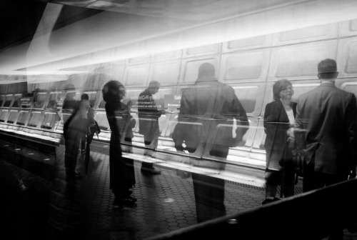 Metro ghosts. Photo by Michael W. Hicks.