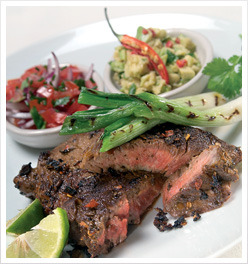 Mexican Marinated Steak with Spring Onions. Click through for recipe.