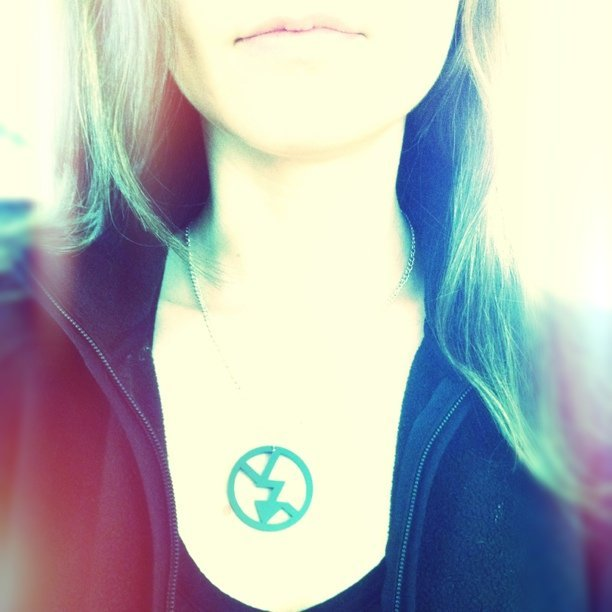"Love my new ""no flash"" necklace by @plastiqueshop @jenmurse @photojojo (Taken with instagram)"