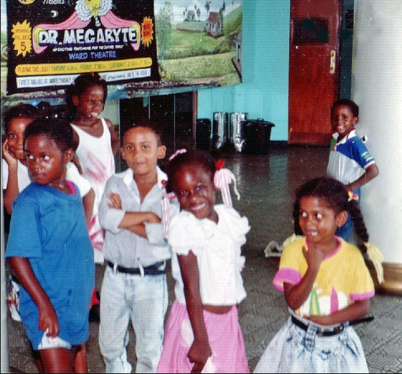 Jamaican kids at Kingston movie theater; early 90s, source unknown