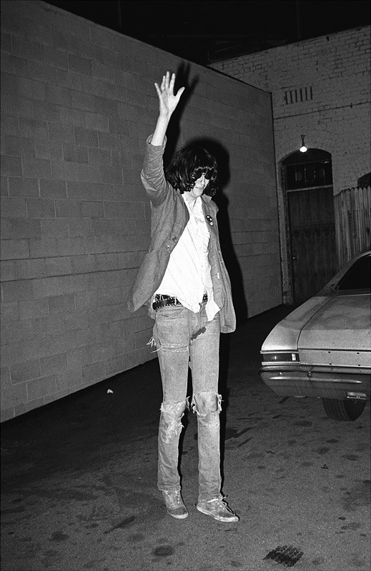 "teenagebollocks:  As some of you know, 10 years ago today Joey Ramone passed away in a hospital bed. Before his heart beat stopped, he was listening to ""In A Little While"" by U2. Instead of a moment of silence to honor Joey, listen to the last song he heard before he died.  RIP Joey Ramone ♥"
