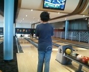 Now that was a strike. Way to go son!!! You have the makings of a true bowling champion. Bowling at Splitsville is such fun. http://www.splitsvillelanes.com/
