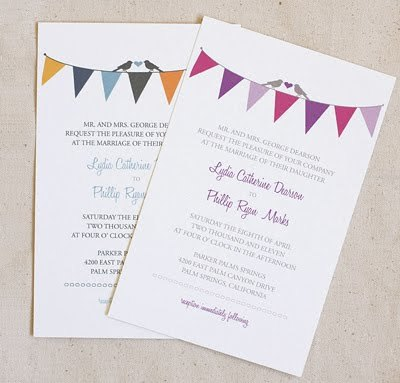 hipsterbride:  FREE! (via Free bunting wedding stationery set | How About Orange)