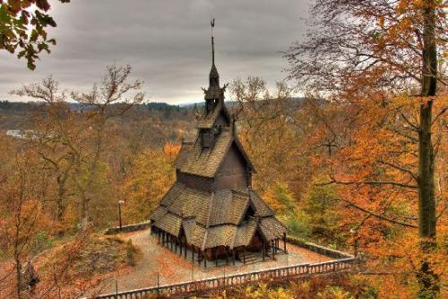 <br /> Fantoft Stave Church (Norwegian: Fantoft stavkirke) is a reconstructed stave church in the Fana borough of the city of Bergen, Norway.<br /> The church was originally built in Fortun in Sogn, a village near inner or eastern end of Sognefjord around the year 1150. In the 19th century the church was threatened by demolition, as were hundreds of other stave churches in Norway. The church was bought by consul Fredrik Georg Gade and saved by moving it in pieces to Fantoft near (now in) Bergen in 1883.<br /> &#8221; /></a></p> <div> <p><strong>Fantoft Stave Church</strong> (<a title=