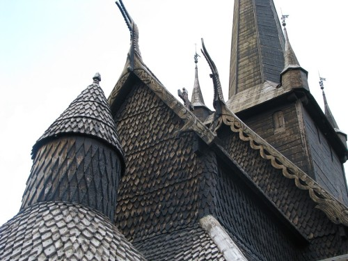 Roof detail of stave church